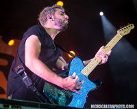 All Time Low guitarist Jack Barakat  performs on the Sands Steel Stage at PNC Plaza during Musikfest on Saturday, August 11, 2018.