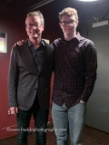 Doug Weiss (bass) with his son before the show.