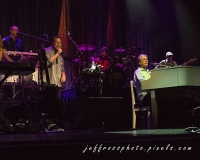 Brian Wilson with Al Jardine and Goldie Chaplin