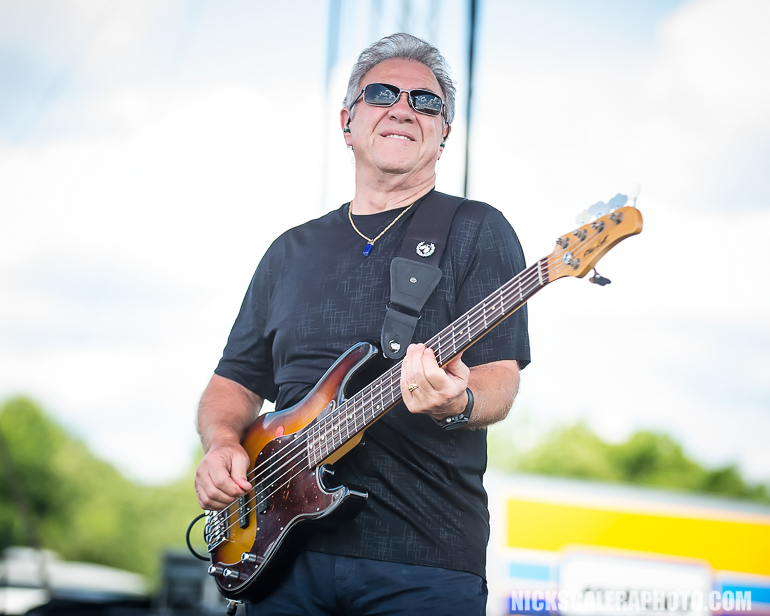 Stu Cook performs with Creedence Clearwater Revisited, who closed out this year's QuickChek New Jersey Festival of Ballooning concert series on Sunday, July 29, 2018.