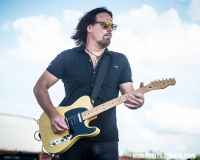 Kurt Griffey performs with Creedence Clearwater Revisited, who closed out this year's QuickChek New Jersey Festival of Ballooning concert series on Sunday, July 29, 2018.