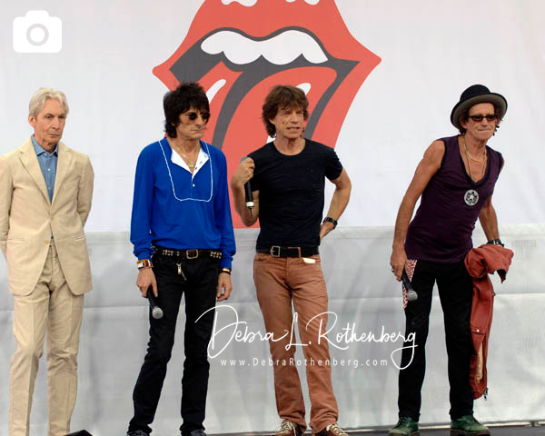 Charlie Watts, Ron Wood, Keith Richards and Mick Jagger of The Rolling Stones at the Performance And Press Conference To Announce Plans For Their Upcoming World Tour at Lincoln Center on May 5, 2005
