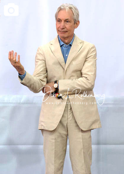 Charlie Watts of The Rolling Stones at the Performance And Press Conference To Announce Plans For Their Upcoming World Tour at Lincoln Center on May 5, 2005
