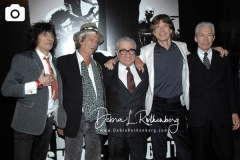"""New York, NY-3/30/08-New York Premiere of """"Shine A Llight""""   -PICTURED: The Rolling Stones: Ron Wood, Keith Richards, Director Martin Scorsese,Mick Jagger, Charlie Watts"""