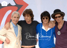 Charlie Watts, Mick Jagger, Ron Wood and Keith Richards, of The Rolling Stones at the Performance And Press Conference To Announce Plans For Their Upcoming World Tour at Lincoln Center on May 5, 2005