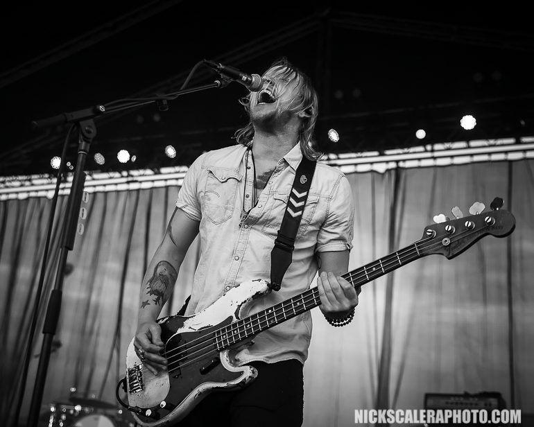 Lifehouse bassist Bryce Soderberg performs with the legendary alternative rock band who headlined the QuickChek Festival of Ballooning live concert series on Saturday, July 28, 2018.