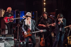 Billy F. Gibbons and Danny Clinch perform at the Fifth Annual Love Rocks NYC benefit concert for God's Love We Deliver at the Beacon Theatre on June 3, 2021 in New York City.